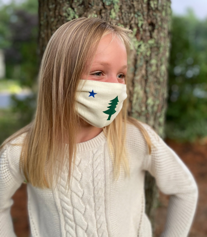 Kids Maine Flag Masks - 4 Pack Made in USA | Ramblers Way