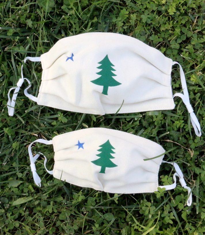 Maine Flag Flag Masks - 4 Pack Made in USA | RAMBLERS WAY