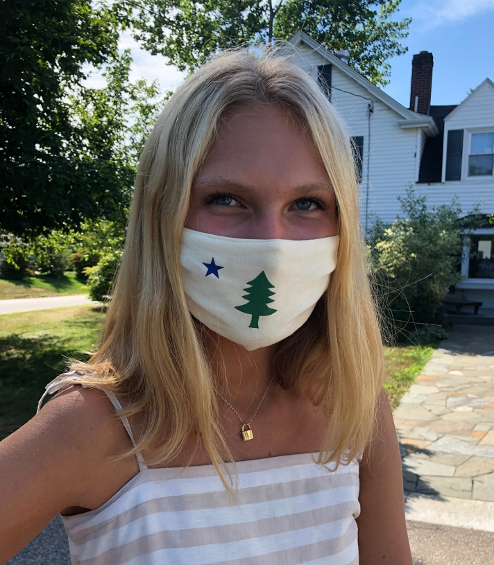Maine Flag Mask - 4 Pack Made in USA | Ramblers Way
