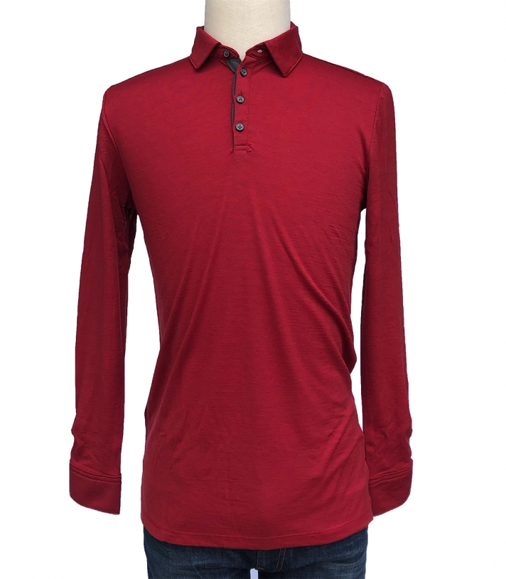 Wool Long Sleeve Polo Made in USA | Ramblers Way