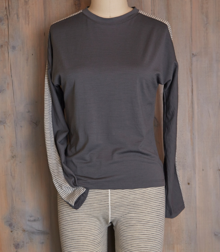 Color Block Wool Crew Top Made in USA | Ramblers Way