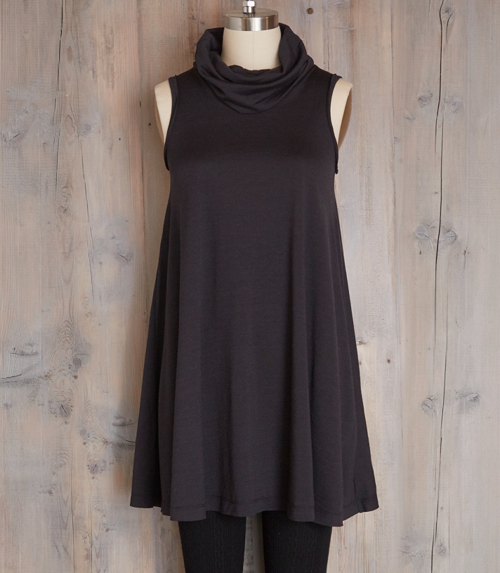 Wool Cowl Neck Swing Dress Made in USA | Ramblers Way