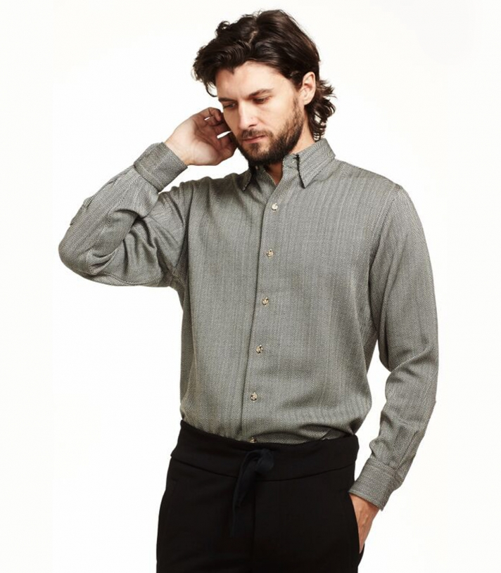 Wool Manhattan Herringbone Shirt Made in USA | Ramblers Way