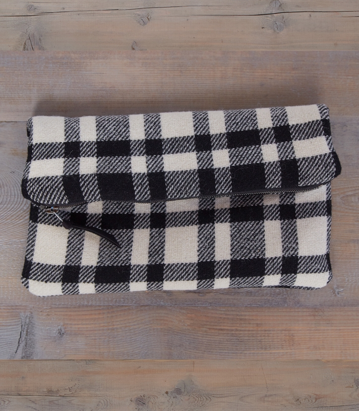 Wool Clutch Purse Made in USA | Ramblers Way