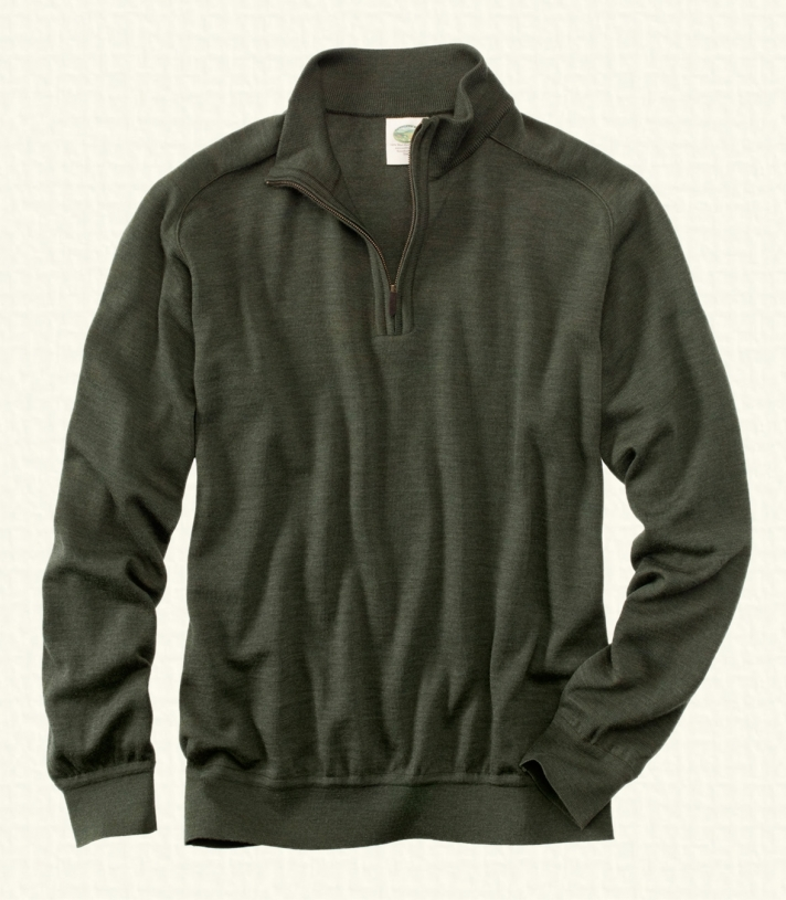 Wool Quarter Zip Pullover Sweater - FINAL SALE Made in USA | Ramblers Way