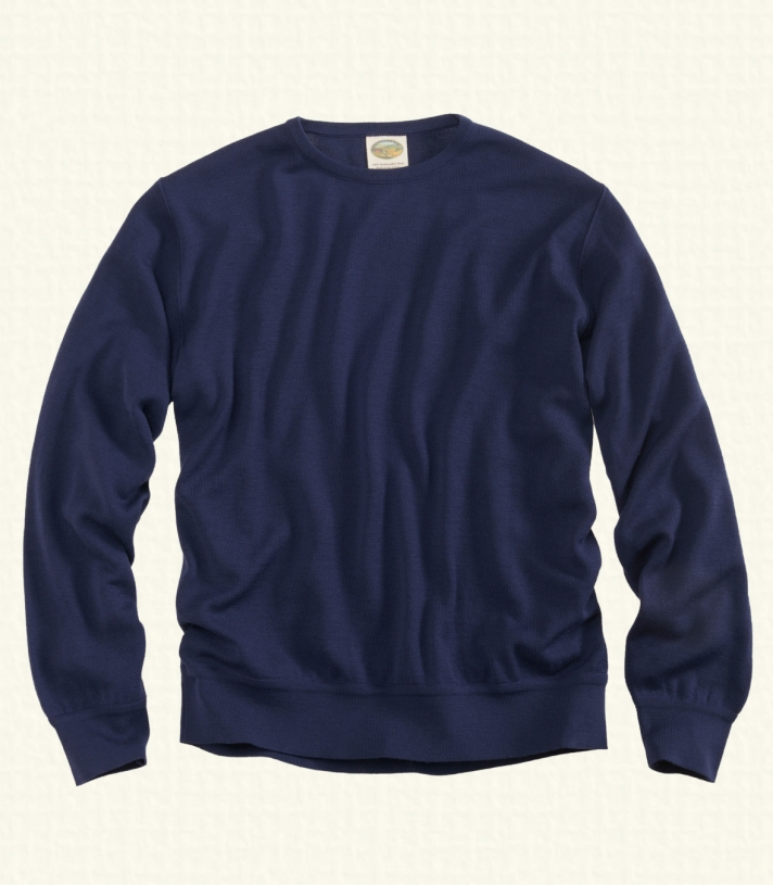 Wool Crew Neck Sweater Made in USA | Ramblers Way