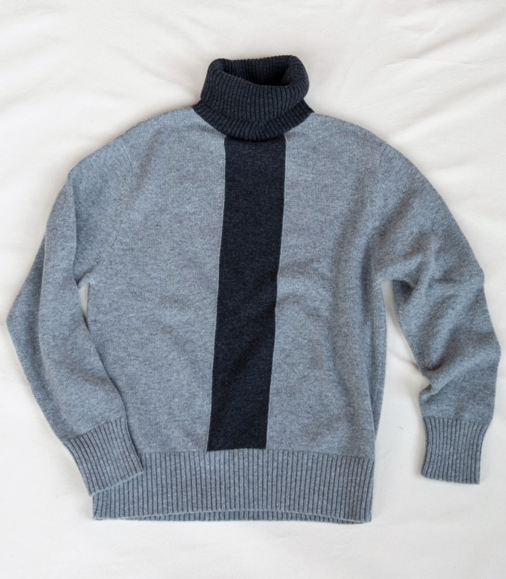 Wool Turtleneck Stripe Sweater - Final Sale Made in USA | Ramblers Way