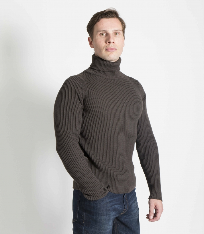 Wool Ribbed Turtleneck Sweater Made in USA | Ramblers Way