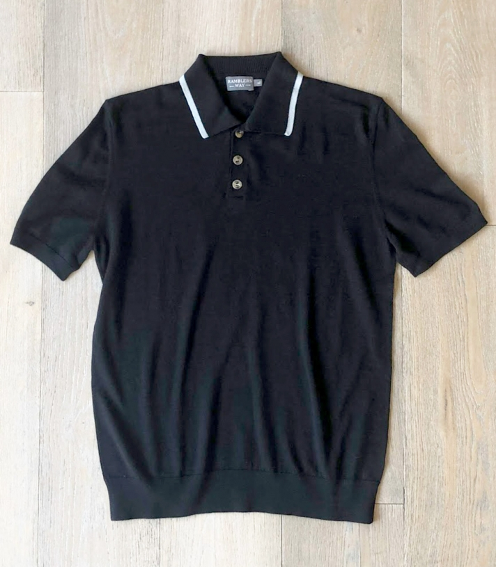 Wool Short Sleeve Knitted Polo Made in USA | Ramblers Way