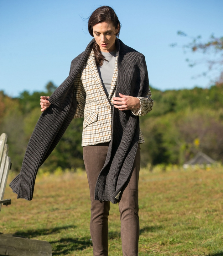 Madeline Houndstooth Wool Jacket Made in USA | Ramblers Way