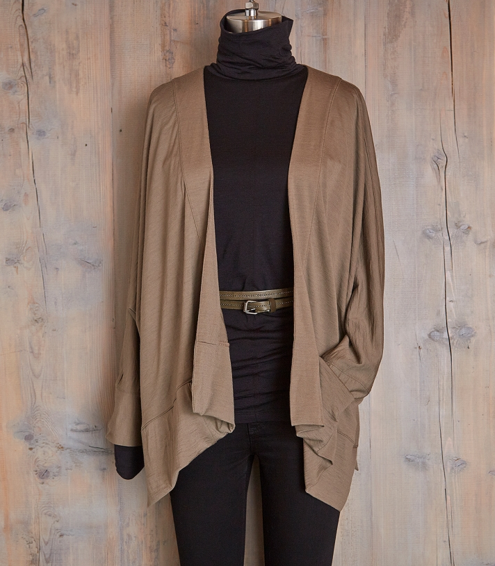 Batwing Wool Drape Made in USA | Ramblers Way