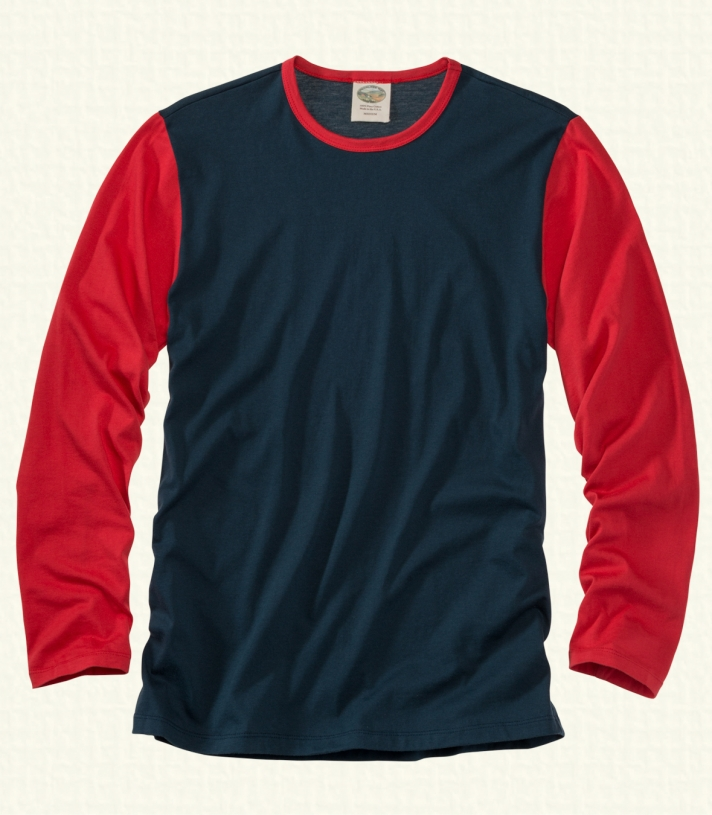 Cotton Crew Neck - Long Sleeve Made in USA | Ramblers Way