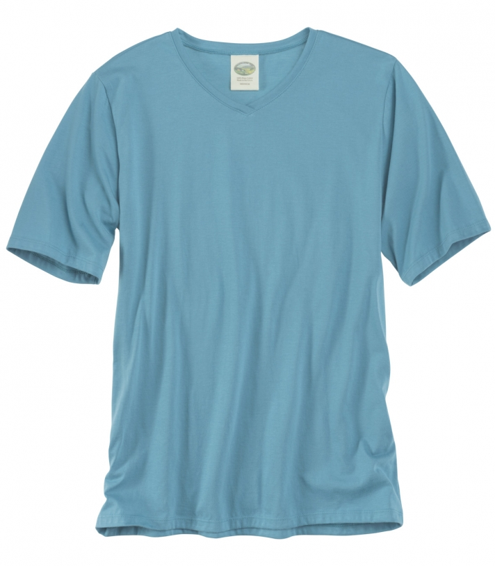 Pima Cotton Cross Neck SS Made in USA | Ramblers Way
