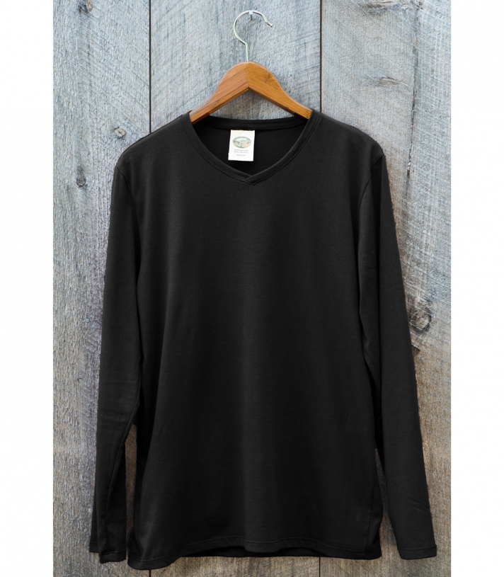 Men's Cotton Cross Neck - Long Sleeve Made in USA | Ramblers Way