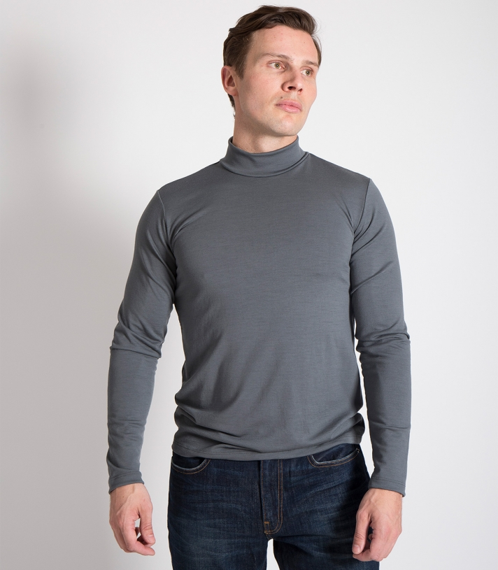 Wool Mock Turtleneck Made in USA | Ramblers Way