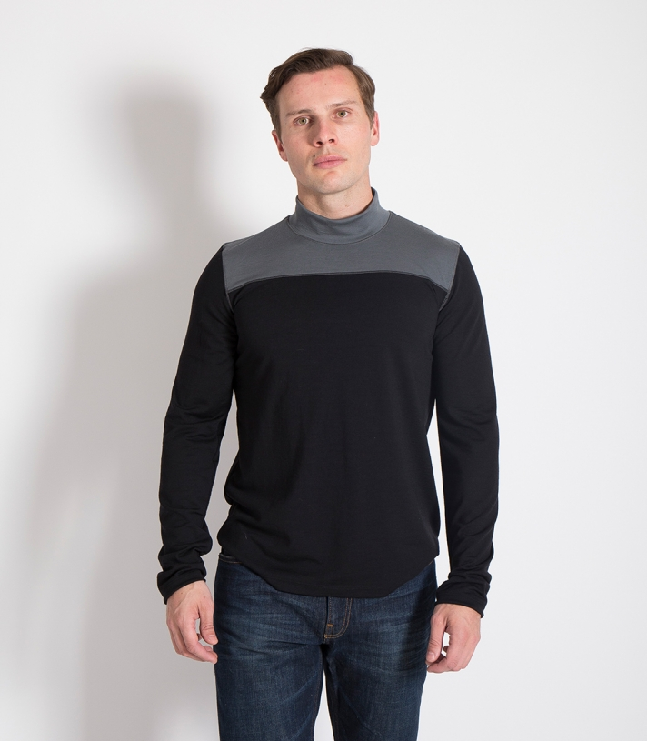 Wool Color Block Mock Turtleneck Made in USA | Ramblers Way