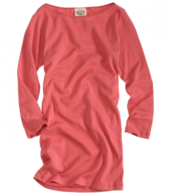 Cotton Three Quarter Sleeve Boat Neck Made in USA | RAMBLERS WAY