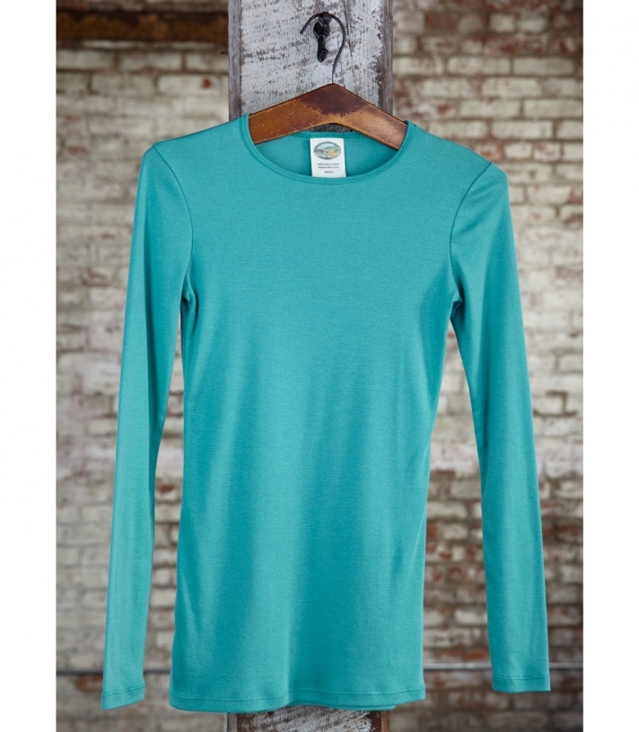 Cotton Jewel Neck Made in USA | Ramblers Way