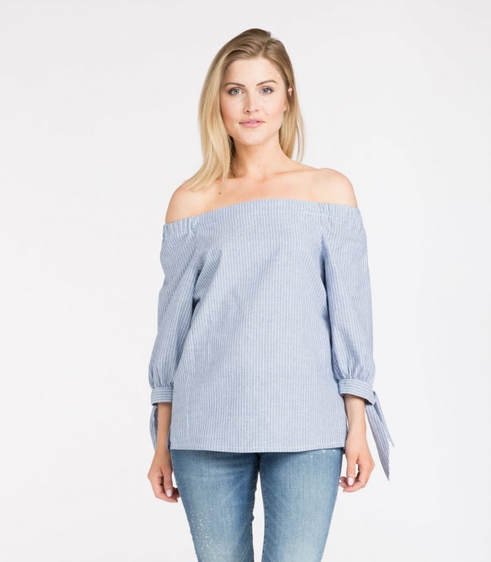 Cotton Off The Shoulder Blouse Made in USA   Ramblers Way