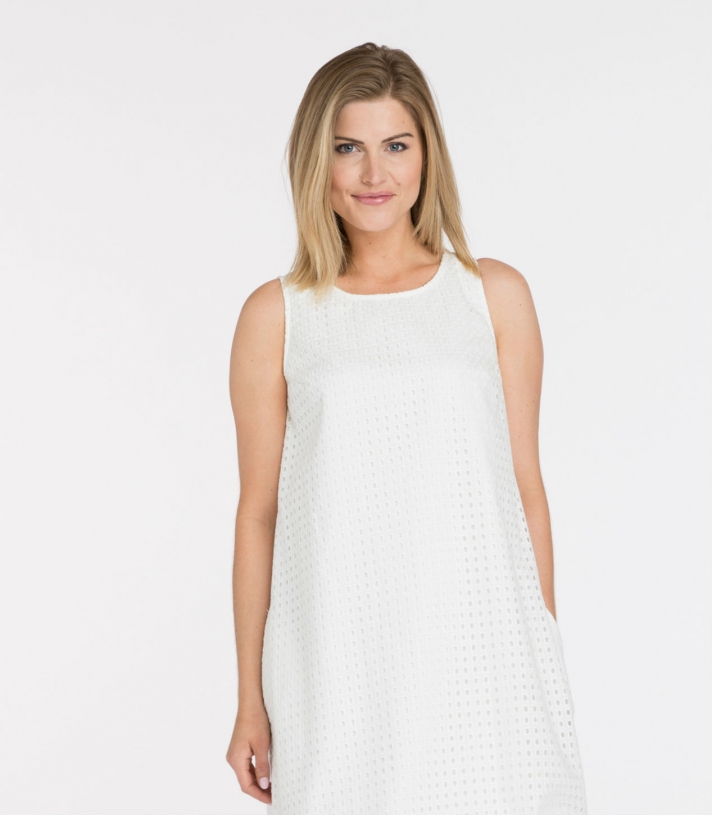 Cotton Textured Cone Dress Made in USA | RAMBLERS WAY