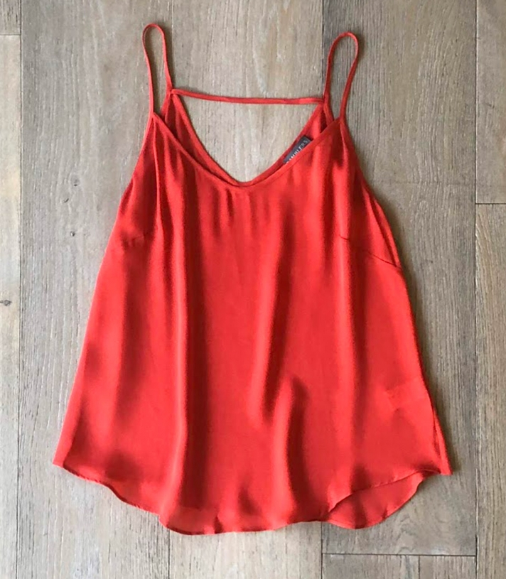 Silk Deep V Camisole Made in USA | Ramblers Way