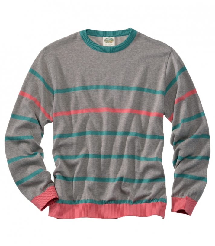 Cotton Classic Crew Stripe Sweater - Final Sale Made in USA | Ramblers Way