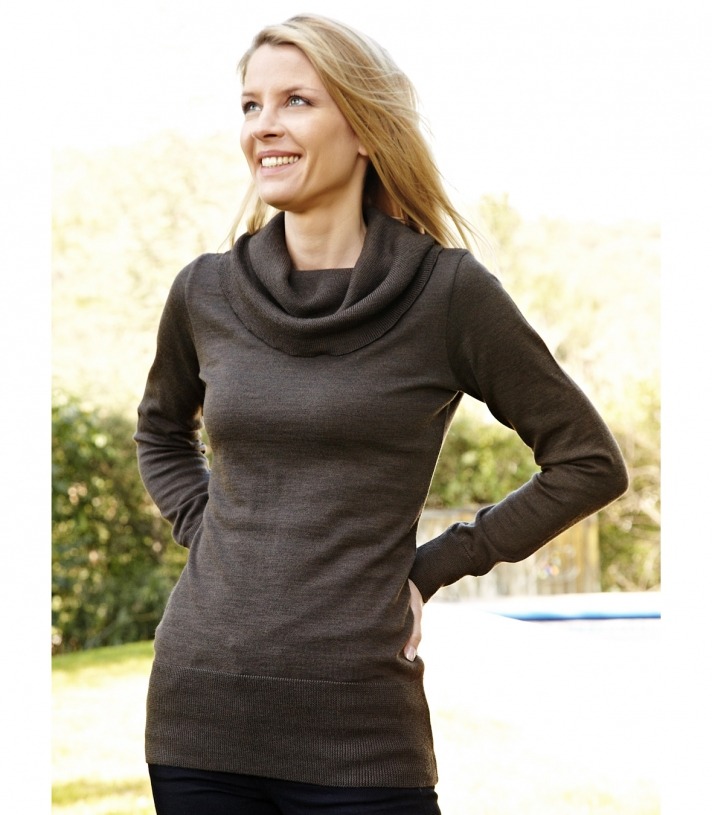 Cowl Neck Sweater - FINAL SALE Made in USA | Ramblers Way