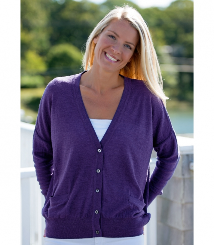 Wool Cardigan Sweater Made in USA | Ramblers Way