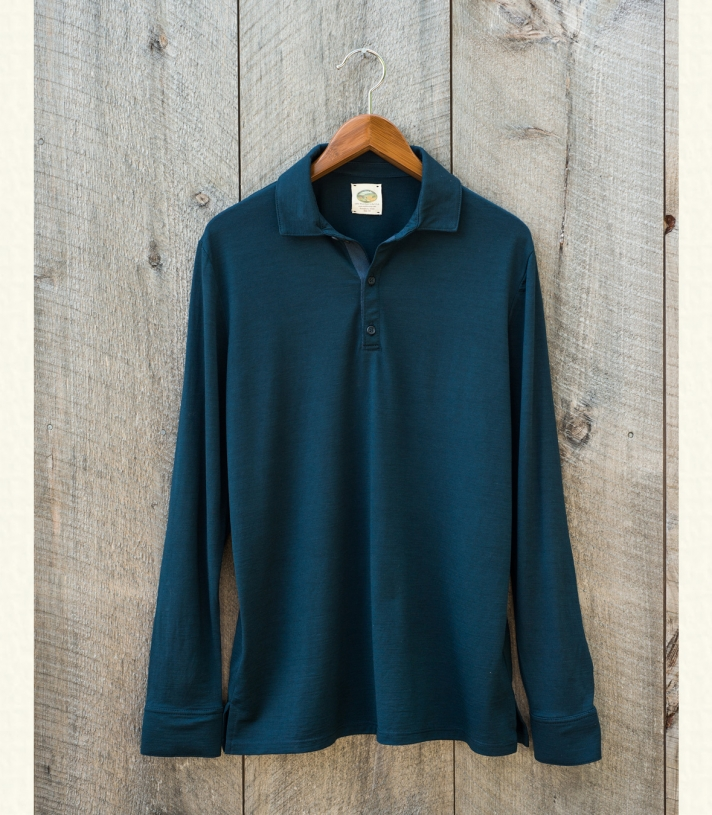 Wool Long Sleeve Contemporary Polo Made in USA | Ramblers Way