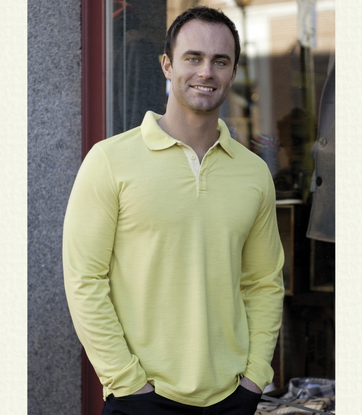 Wool Long Sleeve Polo - FINAL SALE Made in USA | Ramblers Way