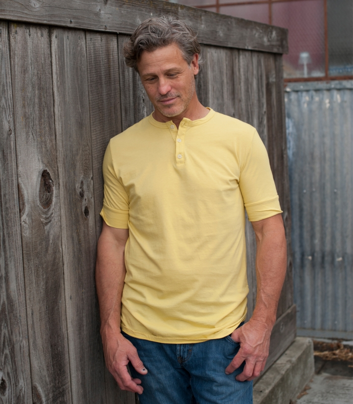 Cotton Henley Tee - Short Sleeve Made in USA | Ramblers Way